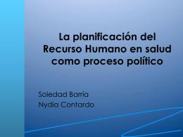 La planificación del Recurso Humano en salud como proceso político