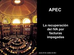 La recuperación del IVA no cobrado Javier Galán - APEC-CR