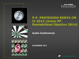 ficha del producto pp protegido renta cm ii 2014