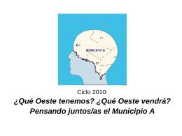 Presentacion Ciclo Oeste 2010