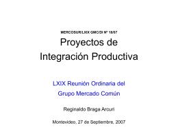 Slide 1 - Mercosur