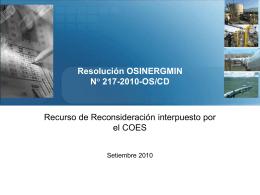 COES - gart - Osinergmin