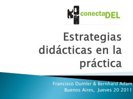 Estrategias didácticas en la práctica