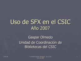 Uso de SFX en el CSIC - digital