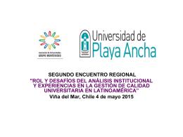 Diapositiva 1 - Asociación de Universidades Grupo Montevideo