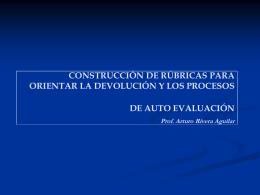 construcción de rúbricas para orientar la devolución y