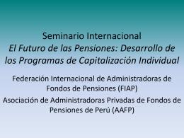 Pablo Secada - (FIAP) Federación Internacional de Administradoras