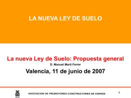 1. antecedentes y objeto de la ley - APCV Asociación de Promotores