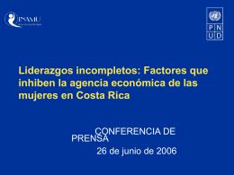 Fuente - El PNUD en Costa Rica