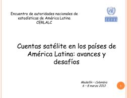 Cuenta satélite Cuentas satélites