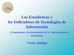 Desarrollo de una Cuenta Satélite de las Tecnologías de la
