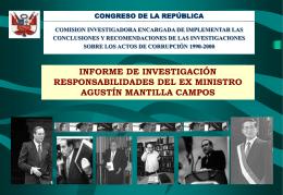 Presentación Gráfica del caso : Cuentas de Agustin Mantilla