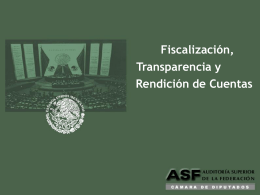 Presentación Fiscalización Transparencia y Rendición de Cuentas