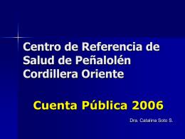 Cuenta Pública - CRS Cordillera