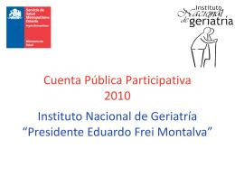 Cuenta Pública 2010 - Servicio de Salud Metropolitano Oriente