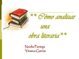 Análisis de una obra literaria