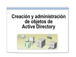Creación y administración de objetos de Active