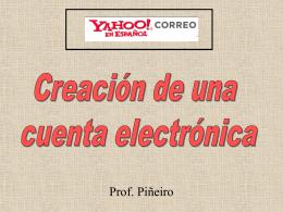 Creación de una cuenta electrónica