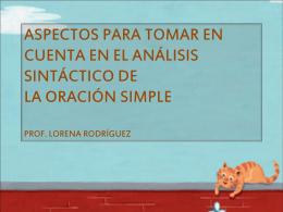 aspectos para tomar en cuenta en el análisis sintáctico
