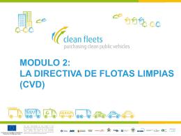 Modulo 2: La Directiva de Flotas Limpias