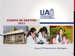 Cuenta Gestion 2013 - Universidad de Antofagasta