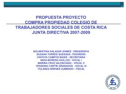 Proyecto - Colegio de Trabajadores Sociales de Costa Rica