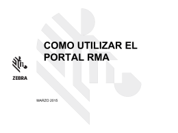 detalles de rma - Zebra Technologies Corporation