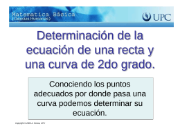 Determinación de la ecuación de la gráfica de la recta o curva de