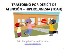 TRASTORNO POR DÉFICIT DE ATENCIÓN EL NIÑO