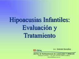 Hipoacusias y Sorderas (Gonzalez)