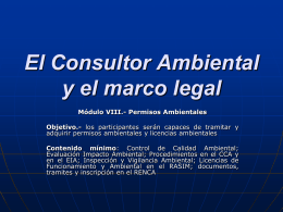El Consultor Ambiental