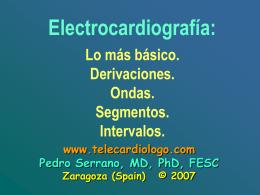 Las derivaciones del ECG (primera clase