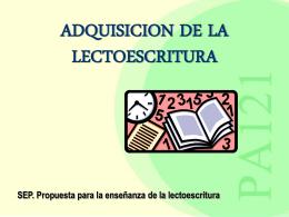adquisicion de la lectoescritura - Centro Universitario de Ciencias