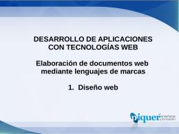 U1 – Principios de Diseño Web
