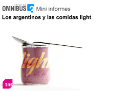 Cuáles son los principales motivos del consumo de productos light?