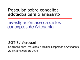 Concepto / conceitos Artesanias / Artesanato