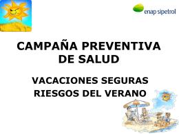 campaña preventiva de salud vacaciones seguras riesgos