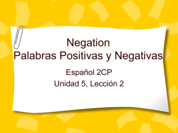 PP: afirmativos negativos