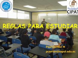 Reglas para Estudiar e Investigar paúl_carrión