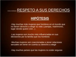 4- Tema Respeto a sus derechos