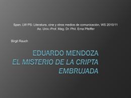 Eduardo Mendoza El misterio de la cripta embrujada