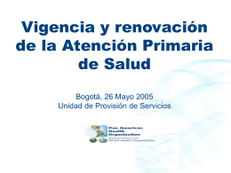 Bogota: renovacion - Organización Panamericana de la Salud