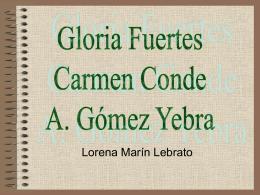 Gloria Fuertes, Carmen Conde y A. Gómez Yebra