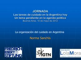 La organización del cuidado en Argentina.