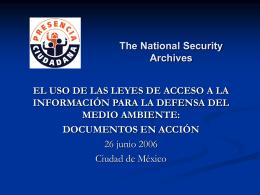 Status del Acceso a la Informacion en Mexico