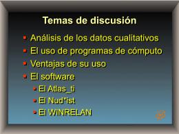 Temas de discusión