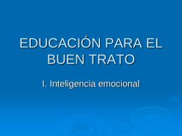 EDUCACIÓN PARA EL BUEN TRATO