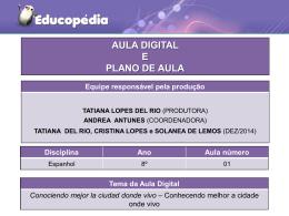 Planos e atividades de Espanhol do 8° ano