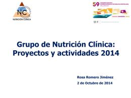 Grupo de trabajo de Nutrición: Proyectos 2009