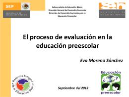El proceso de evaluación en la educación preescolar
